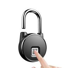 Fingerprint lock Smart door Lock Home Luggage Dormitory Locker Bearing Door Waterproof home electronic P22