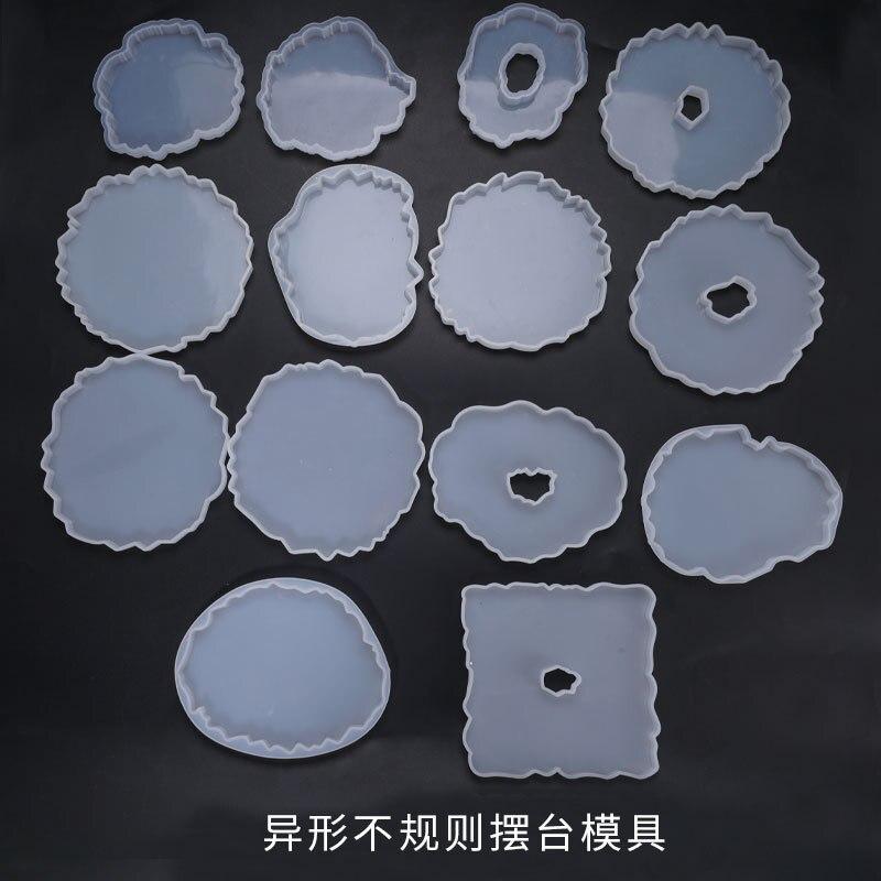 DIY кристальная силиконовая форма неправильная волна Coaster коврик литье смолы форма чашки Pad настольная декоративная форма DIY ремесла Инструм...