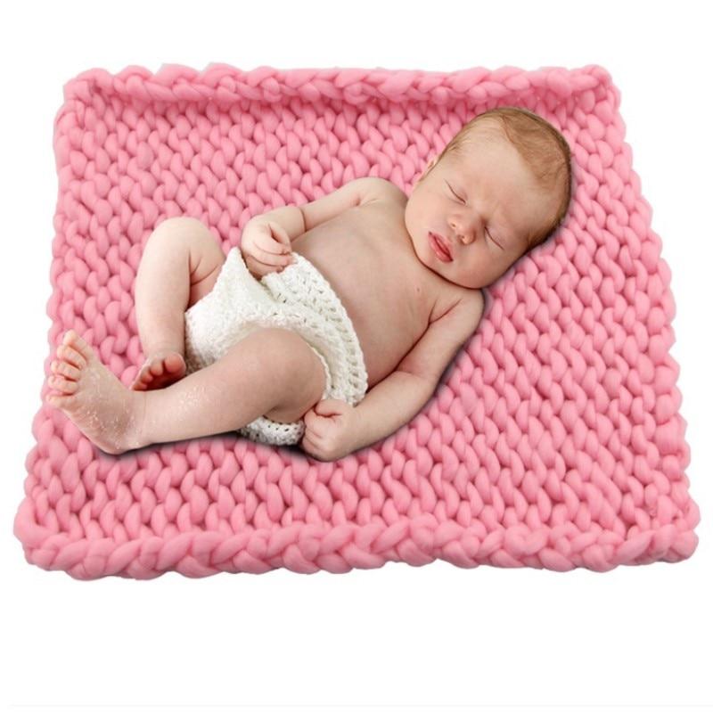 2020 nouveau doux Crochet laine panier chaud enveloppement bébé nouveau-né photographie accessoires couverture bricolage bébé mémorial Photo accessoire livraison directe