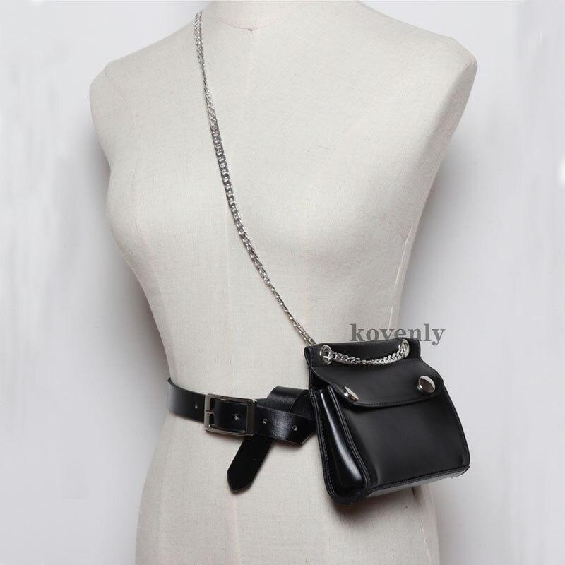 Women Fanny Pack Leather Belt Bags For Women 2019 Waist Pascks Lady Vintage Shoulder Bag Mini Casual Chest Purse Messenger Bags