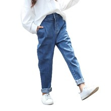 Ripped Jeans for Kids Denim Trousers Spring Children Hole Cowboy Pants Bottoming Elastic Waist Boys Clothing