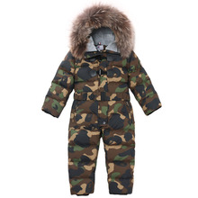 Winter down jumpsuits  children down jackets boys and girls thick