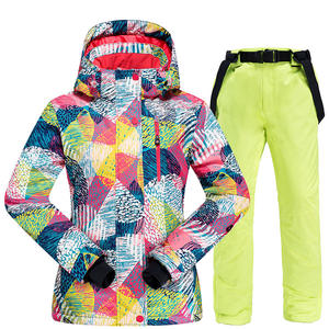 Padded Ski-Suit Skiing-Jacket Snowboarding Waterproof Winter Women New Pants And Warm
