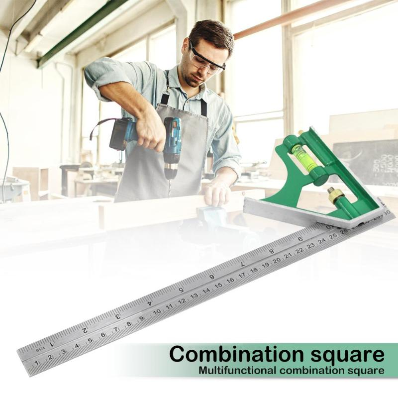 45 / 90 Degree Combination Square Angle Ruler Protractor Gauge Marking Measuring Tools Woodworking Carpenter Tools