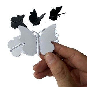 Image 3 - 10 100pcs Butterfly mobile phone holder butterfly folding stretch bracket DIY rotating phone finger ring holder with sticker
