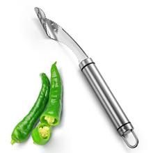 Chili Pepper Stainless Steel Fruit Corers Cooking Helper Kitchen Accessories Slicer Pepper Seed Remover Separator 20mm rose gold and silver 3d chili charm chili pepper stainless steel pendant diy earrings necklace accessories sale by package