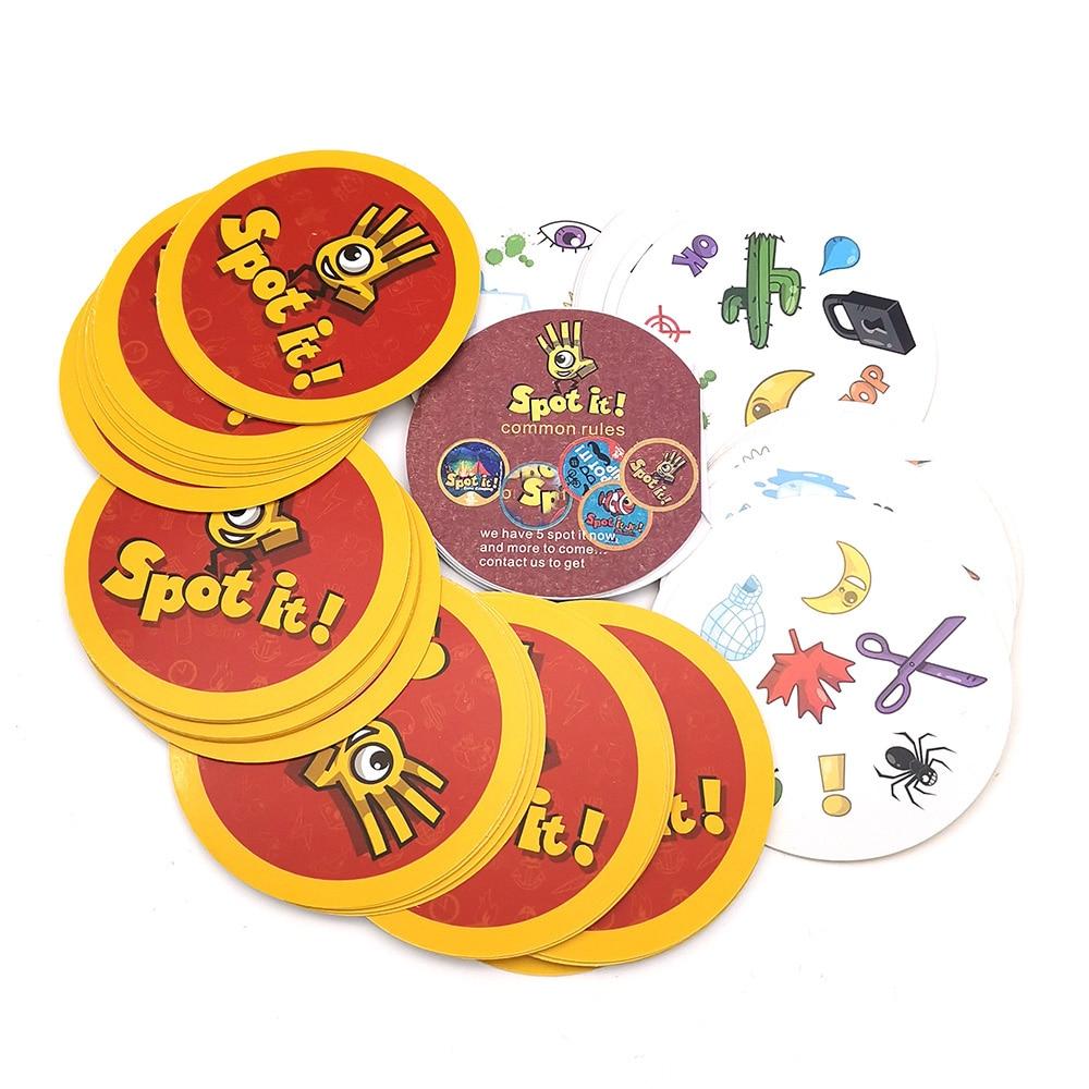 Local ele jogos de tabuleiro mini 70mm desfrutar dobble ele para crianças festa de família educação brinquedos jogo cartão ir acampamento shalom jogando cartas
