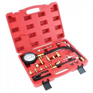 Image 5 - TU 114 0 140PSI / 0 10 Bar Tragbare Compression Kraftstoff Injektion Druck Auto Auto Diagnose Tester Tools Kit mit Sicherheit ventil