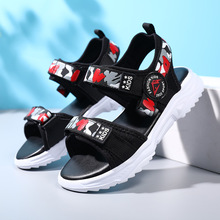 Boys Sandals kid Shoes Summer Children Beach Shoes Sports Soft Non-slip Toddler Shoes Casual Cut-outs baby Leather Rubber Sandal 2019 hot baby shoes cute boys girls kids shoes children summer beach sandals kid newest pvc casual walking sports sandals shoes