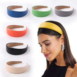 Faux Leather Headbands Simple PU Leathers Women Hairbands girls Hair Accessories Wide Hair Hoops Female Headbands