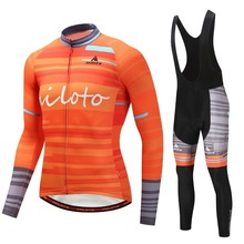 MILOTO Long Sleeve Cycling Jersey Set, Breathable Sportswear for Cycling, Suit, Jersey, cycling jersey men