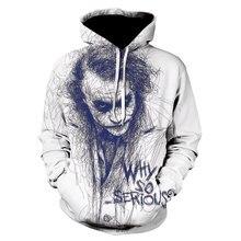 Novidade palhaço 3d hoodie dos homens joker poker hoodies moletom engraçado moletom hip hop roupas dos homens hoodies 2020 topos