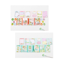 1pack/lot Cartoon Animal Carnival Series Fold Stationery Sticky Notes Memo Pad Sticky Note Post It Set For Gifts