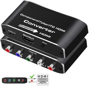 YPbPr To HDMI Converter 4K 60Hz Video Audio Converter Adapter For DVD PSP Xbox PS2 To HDTV Monitor 5RCA RGB To HDMI Converter