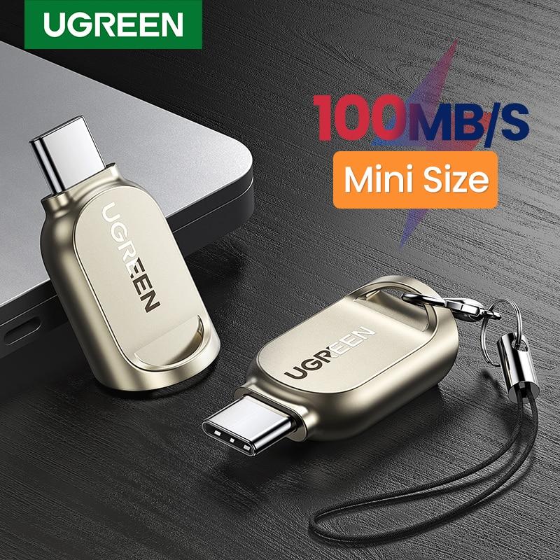 Ugreen usb c leitor de cartão tf micro sd tipo c 3.1 otg leitor de cartão de memória adaptador para samsung huawei macbook micro leitor de cartão sd