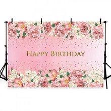 Nitree photo studio adereços fotografia pano de fundo flores rosa vinil fundo crianças festa aniversário decoração NI-2020212