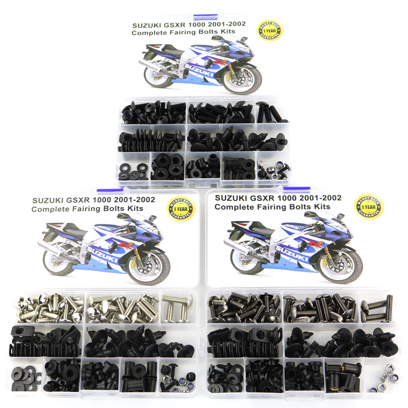 For Suzuki GSX-R1000 GSXR1000 2001 2002 Motorcycle Complete Full Fairing Bolts Kit Fairing Clips Speed Nuts