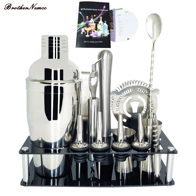1-13 шт. профессиональные барные инструменты для барменов, набор для коктейльных барный шейкер с подставкой для коктейлей