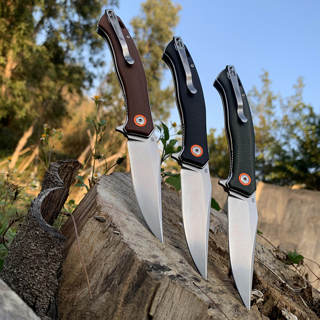 TUNAFIRE Portable folding knife 59-60 high hardness D2 camping self-defense survival knife self-defense knife 3