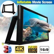 200 дюймов 16:9 Портативный проектор экран Проекция HD домашний кинотеатр складной экран холст для проектора 6x4m