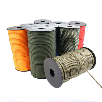 100M 550 Military Standard 7-Core Paracord Rope 4mm Outdoor Parachute Cord Survival Umbrella Tent Lanyard Strap Climbing
