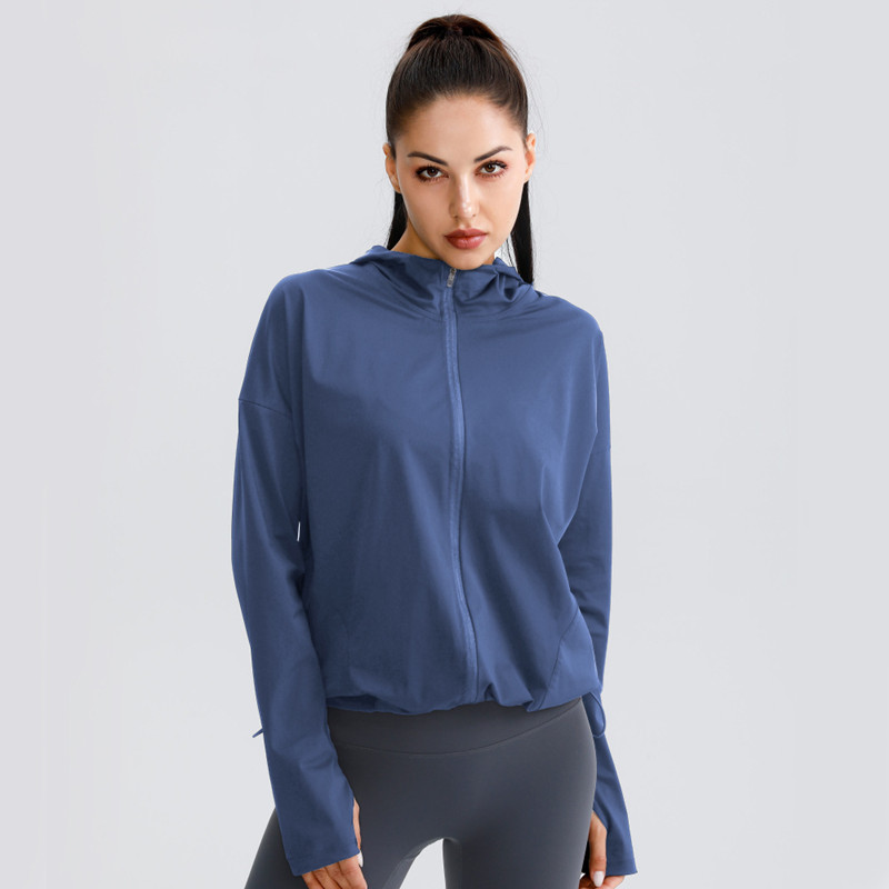 Hooded Sports Jacket for Women Womens Clothing Jackets & Hoodies