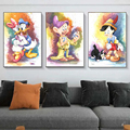Disney Graffiti Art DOnald Duck Mural Mickey Mouse Poster and Print Canvas Printings Wall Art Picture Home Decoration No Frame