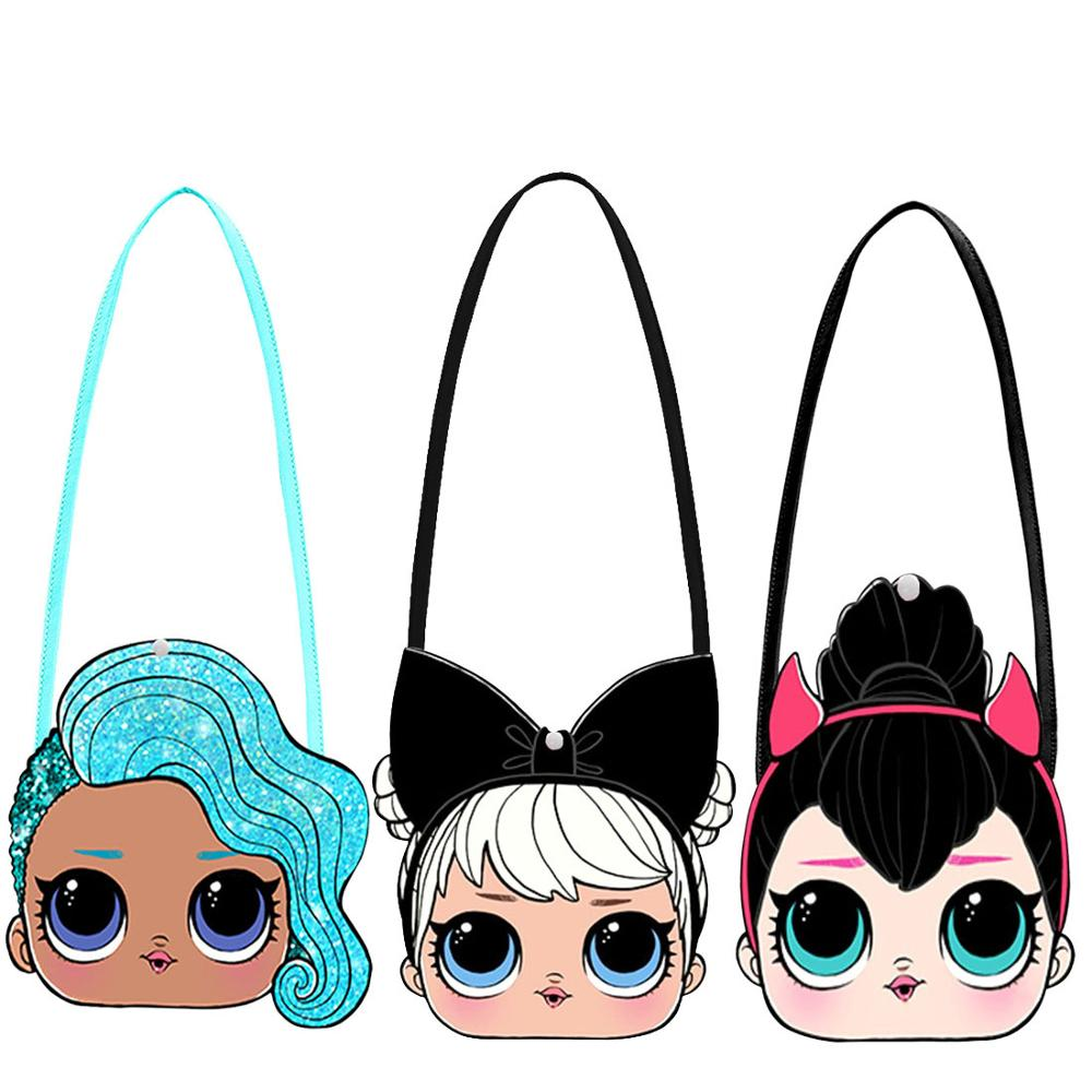 L.O.L SURPRISE! Crossbody Bags Girl Mini Shoulder Bags Cute LOL Dolls Messenger Bag 3D Cartoon Small  Wallet Wild Travel Bags