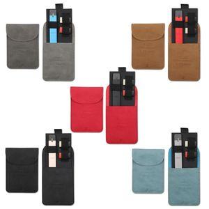 Портативный Ультратонкий кожаный мини-кошелек, карман для переноски, сумка для хранения для JUUL Pods для MYLE Pod System, набор ручек для вейпа