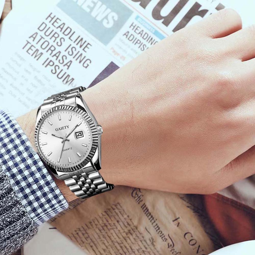 Men watch Gaiety Brand Business Gold Diamond Fashion Calendar Luxury Waterproof Quartz Wristwatch Relogio Masculino 2