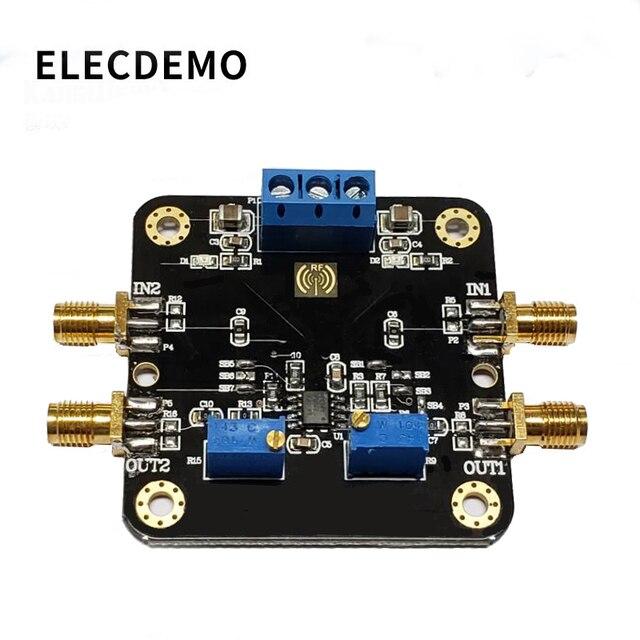 LM358 модуль операционного усилителя модуль двойной канал 700k полоса пропускания низкая мощность SMA вход и выход функция демонстрационная плата