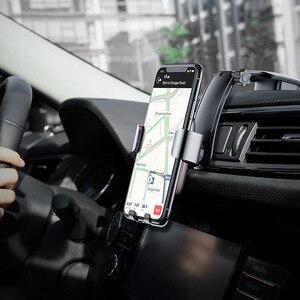 Image 5 - Baseus الجاذبية حامل هاتف السيارة آيفون 11 برو ماكس سامسونج سيارة جبل حامل للهاتف في سيارة خلية حامل هاتف المحمول حامل