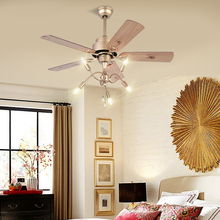 Modern Simple Traditional Fan Lamp Dining Room Solid Wood LED Ceiling Creative  Classic Smart