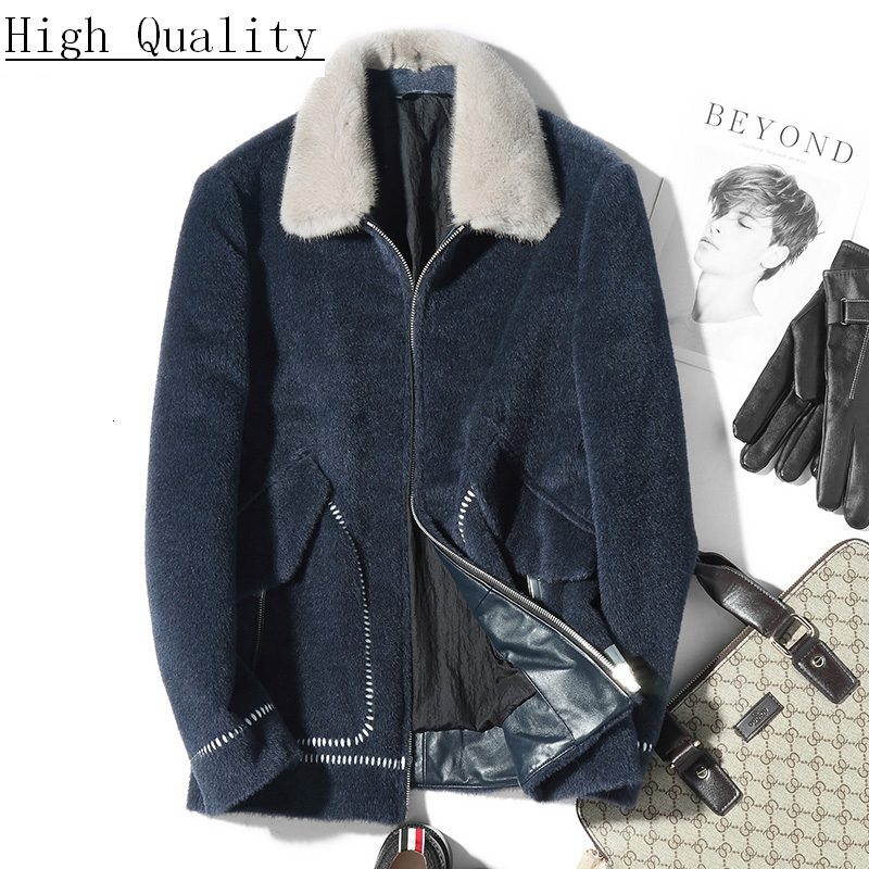 Short Wool Coat Vicugna Autumn Winter Man Jacket Mens Coats Overcoat Thick Slim Jackets Kaban Erkek HS-73-19552 KJ1494