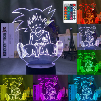 3D LED Night Light Baby Light Goku Anime Bedroom Decoration Night Light 16 Color Change USB Table Lamp Dragon Ball Gift Toy 3d led night light baby light goku anime bedroom decoration night light 16 color change usb table lamp dragon ball gift toy