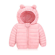 New Winter Baby Coats For Girls Boys Baby Clothes Down Cotton Warm Toddler Coat Jacket Outwear Hooded Infant Jackets цена 2017
