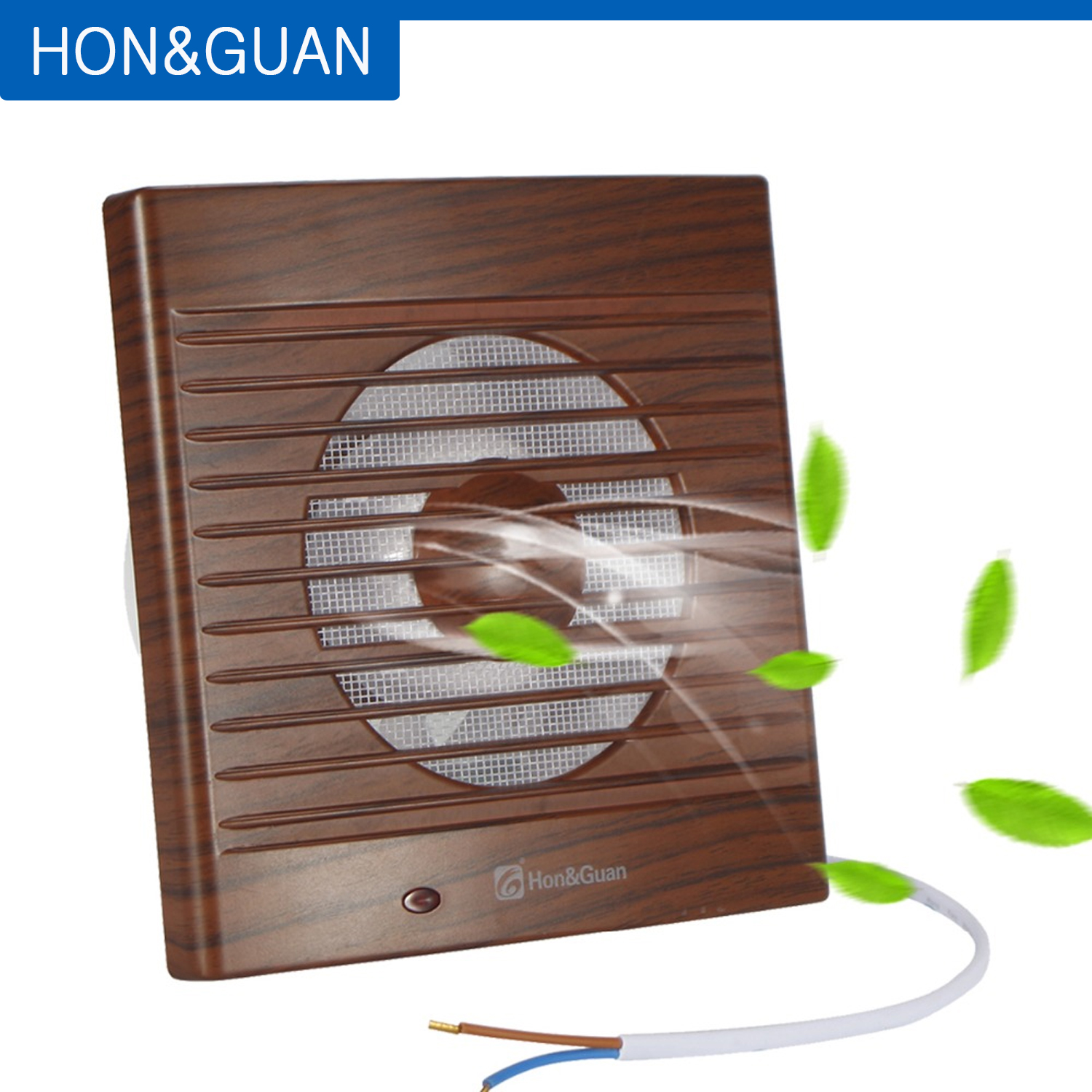14W 22W Wall Wood Grain Low Noise Ventilating Exhaust Extractor Fan For Bathroom Toilet Kitchen Mounted 220V 110V; 4'' 6''
