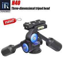 INNOREL H40 Three dimensional Tripod Head Panoramic Ballhead Handle Adjustment for Camera Digital DSLR Max load 10kg