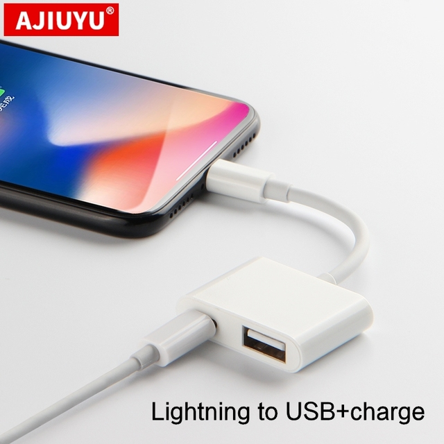 AJIUYU OTG Lightning to HDMI USB Adapter Converter Camera For iPhone 6s 7 8 Plus x xs 11 pro max cable mobile Projector TV dock