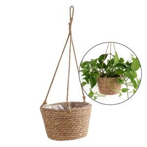Image 2 - Cesto portaoggetti per piante da giardino corda di iuta appeso fioriera intrecciata per interni allaperto portavaso macramè appendini per piante decorazioni per la casa