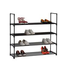4-Layer Shoe Shelf Metal Frame Reinforced Shoe Organizer Rack Large Size Stackable Shoes Storage Stand Holder Saviing Space