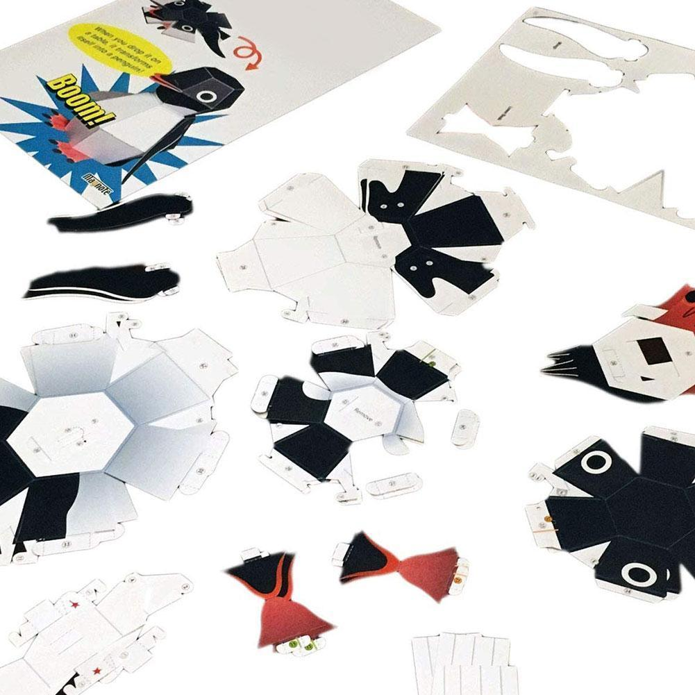 DIY Origami Model Bounce Penguin Haruki Nakamura Paper Ability Adorable Toys Kirigami Folding Handmade Creative Practical T C5G7