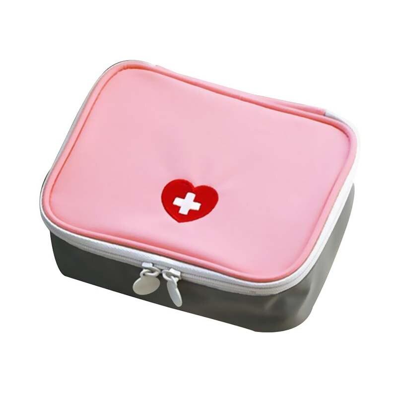 Миниатюрная сумка для оказания первой помощи, нейлоновый Водонепроницаемый Розовый органайзер для оказания медицинской помощи, дорожный, ...