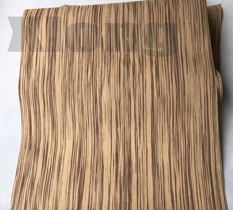 L:2.5Meters/pcs Wide:55cm Thickness:0.2mm Technology Zebra Straight Grain Wood Veneer