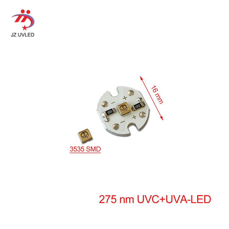 275nm UVC LED Lamps Beads For UV Disinfection Equipment 265nm 280nm SMD 3535 Chip LED Deep Violet Ultraviolet Lights UVA+UVC-LED