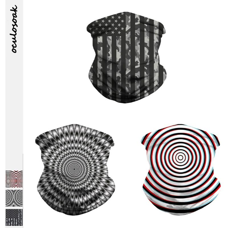 Vortex Digital Printing Carnival Festival Mask Sports Riding  No Brim Hat Wristband Scarf