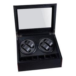 Bobinadora automática de alta calidad 6 + 4 cajas caja de motor deslizante para relojes cajas de mecanismo con cajón de almacenamiento relojes de exhibición