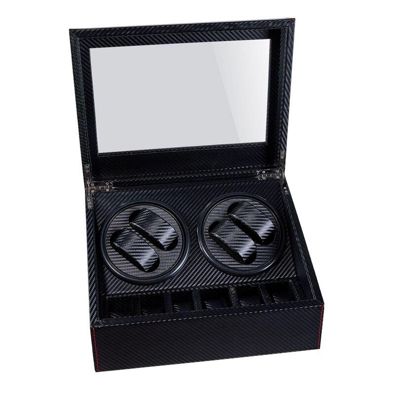 Haute qualité automatique montre remontoir 6 + 4 boîte slient moteur boîte pour montres mécanisme cas avec tiroir affichage montres