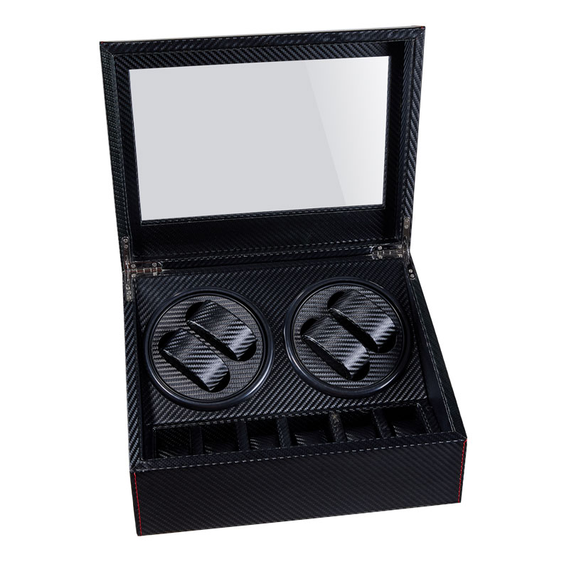 High Quality Automatic Watch Winder 6+ 4 Box Slient Motor Box For Watches Mechanism Cases With Drawer Storage Display Watches