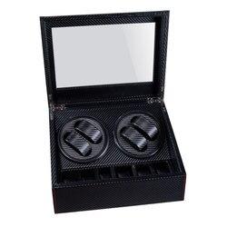 Orologio Automatico di Alta Qualità Winder 6 + 4 Box Slient Box Motore per Orologi Meccanismo di Casi con Immagazzinaggio Del Cassetto Display orologi